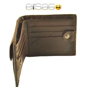 Коричневое портмоне для кредитных карт, денежных купюр