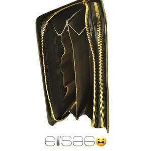 Черный кожаный мужский клатч марки Vorpe