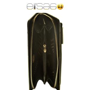 Черный мужский клатч из гладкой кожи