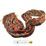 Стильный красный клетчатый шарф осень-зима 2013-2014 года