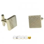 Рифленые мужские запонки Эльсаго с лазерной гравировкой