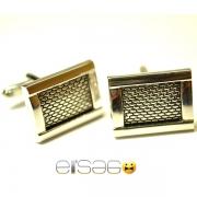 Сетчатые запонки Эльсаго форма квадрат