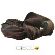 Черный мужской шарф с красными полосками