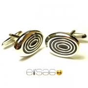 Овальные запонки Эльсаго стиль множественные круги
