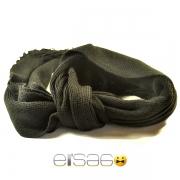 Классический черный мужской шарф