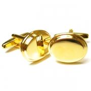 Классические золотые запонки Эльсаго