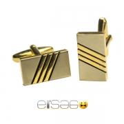 Золотые мужские запонки в форме кирпичика
