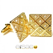 Золотые запонки Эльсаго с украшениями из множественных камней