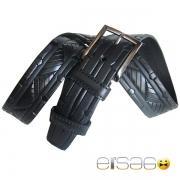 Классический угловатый кожаный ремень