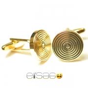 Золотые запонки Эльсаго в египетском стиле