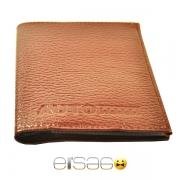 Светло-коричневые кожаные автодокументы Эльсаго
