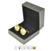 Мужские золотые круглые запонки в подарочной упаковке