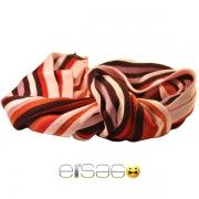 Ярко-красный мужской шарф в полоску
