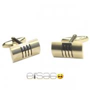 Серебряные мужские запонки с засечками