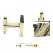 Классические мужские запонки Эльсаго с лазерной гравировкой