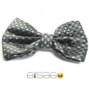 Серая многоугольная бабочка-галстук