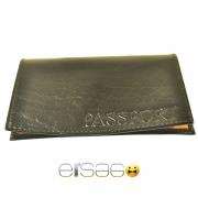 Черная кожаная обложка для паспорта