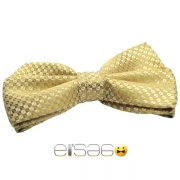 Элегантная желтая бабочка-галстук Эльсаго