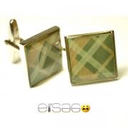 Квадратные запонки Эльсаго в стиле ретро