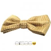 Желто-коричневая стильная бабочка-галстук