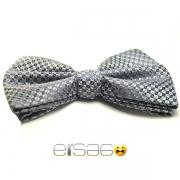 Серая бабочка-галстук с металлическим оттенком