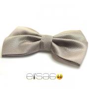 Серая бабочка-галстук с розовыми точками