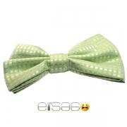 Светло-зеленая индивидуальная бабочка-галстук