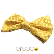 Желтая свадебная бабочка-галстук