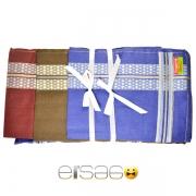 Жаккардовые носовые платки в подарочной упаковки. Цвет контраст