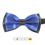 Синяя галстук-бабочка с черным обрамлением