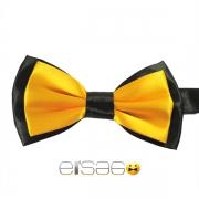 Желтая галстук-бабочка с черным обрамлением