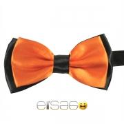 Оранжевая галстук-бабочка с черным обрамлением