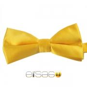 Желтая жаккардовая галстук-бабочка