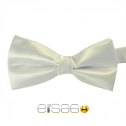 Белая жаккардовая галстук-бабочка
