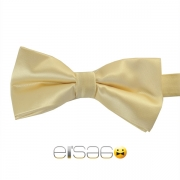 Светло-желтая жаккардовая галстук-бабочка