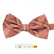 Светло-красная шотландская галстук-бабочка