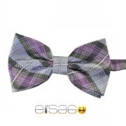Фиолетово-голубая шотландская галстук-бабочка