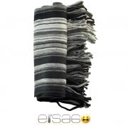 Классический серый теплый шарф.