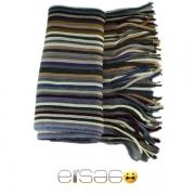Комбинированный полосатый теплый шарф