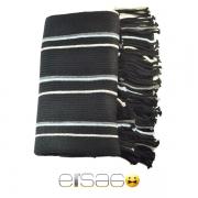 Черный с белыми полосками мужской теплый шарф. Мода осень-зима 2013-2014
