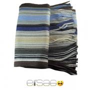 Серый многоцветный мужской теплый шарф