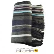 Серый многоцветный мужской теплый шарф. Мода осень-зима 2013-2014