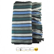 Серо-голубой мужской акриловый шарф. Мода осень-зима 2013-2014