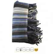 Черно-голубой мужской акриловый шарф. Мода осень-зима 2013-2014